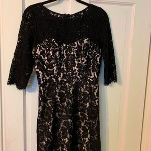 Milky black lace dress